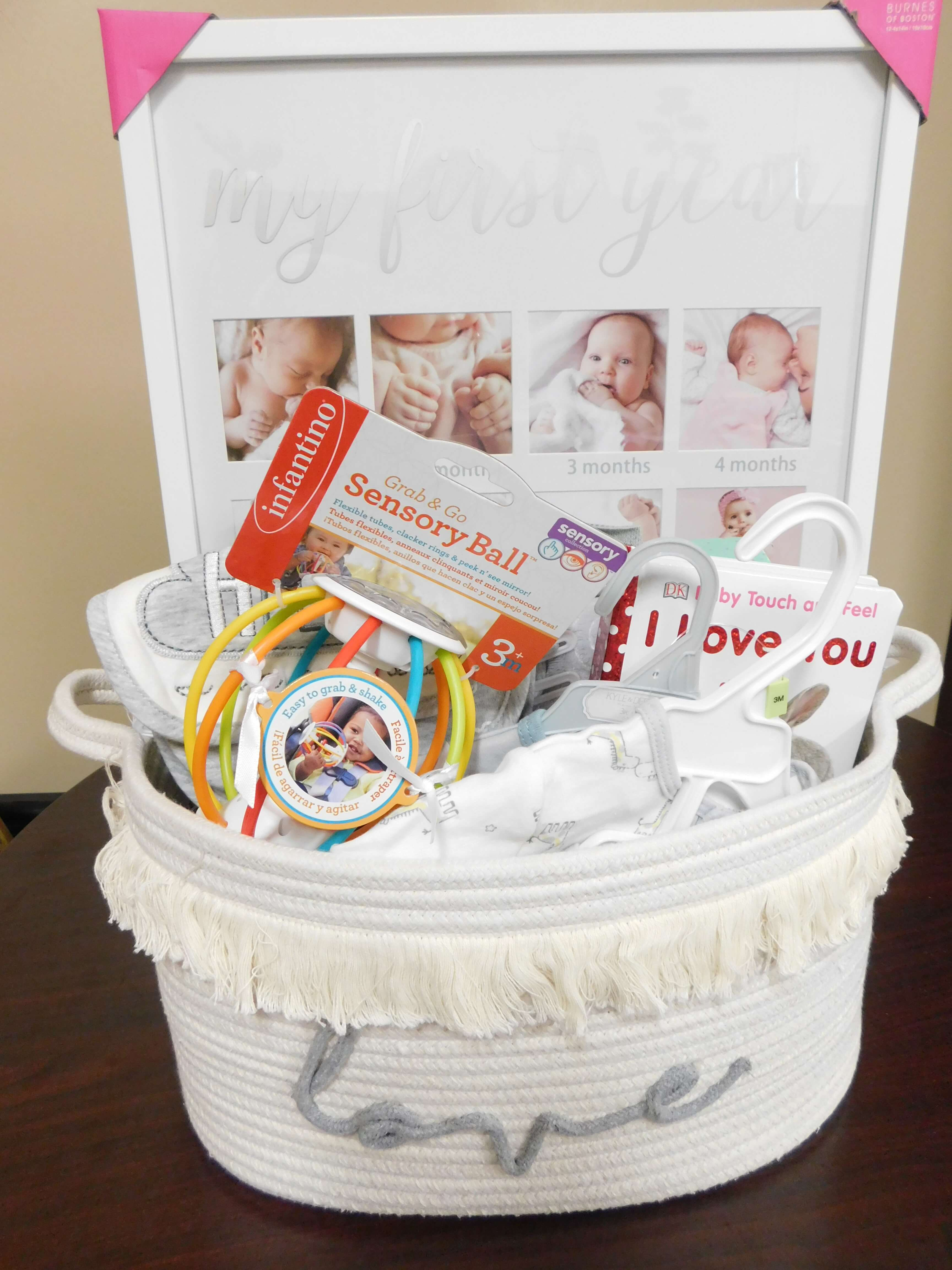Gift basket presented by RRH to the new parents