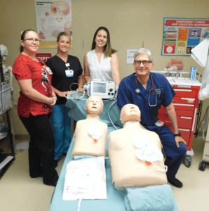 RRH Staff with new defibrillators