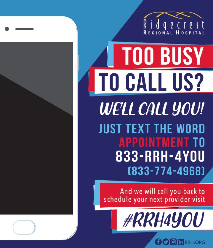 text appointment info poster